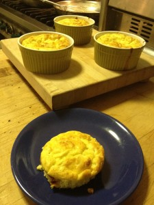 Leek and Goat Cheese Souffle